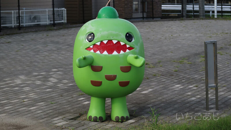 御船の謎の恐竜オブジェ