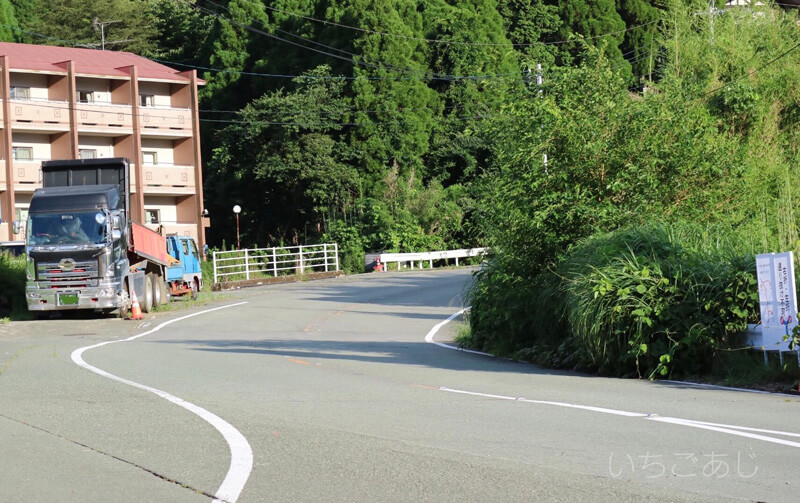 東海大学正門への道